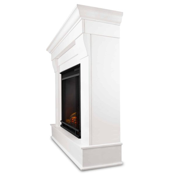 Chateau Electric Fireplace in White by Real Flame 1