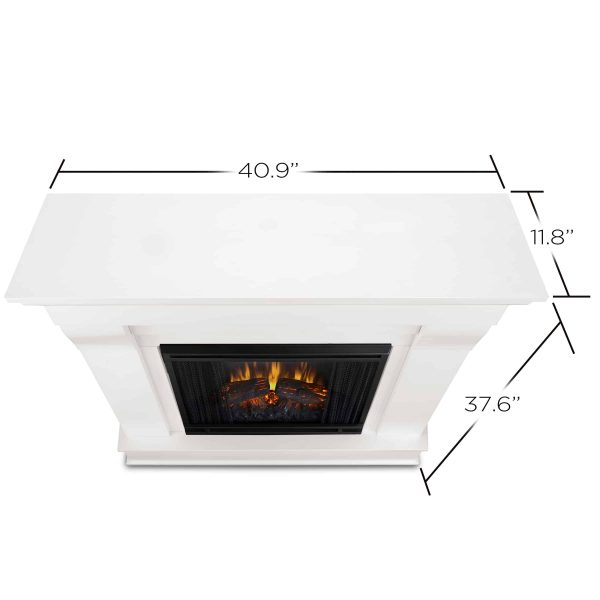 Chateau Electric Fireplace in White by Real Flame 2