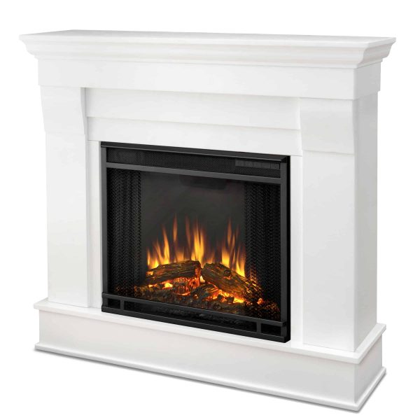 Chateau Electric Fireplace in White by Real Flame 3