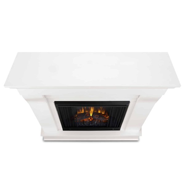 Chateau Electric Fireplace in White by Real Flame 4
