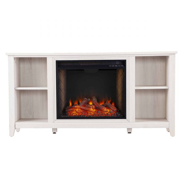 Cheksire Smart Fireplace w/ Storage – White 10