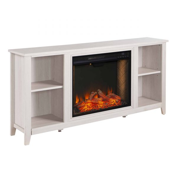 Cheksire Smart Fireplace w/ Storage – White 2