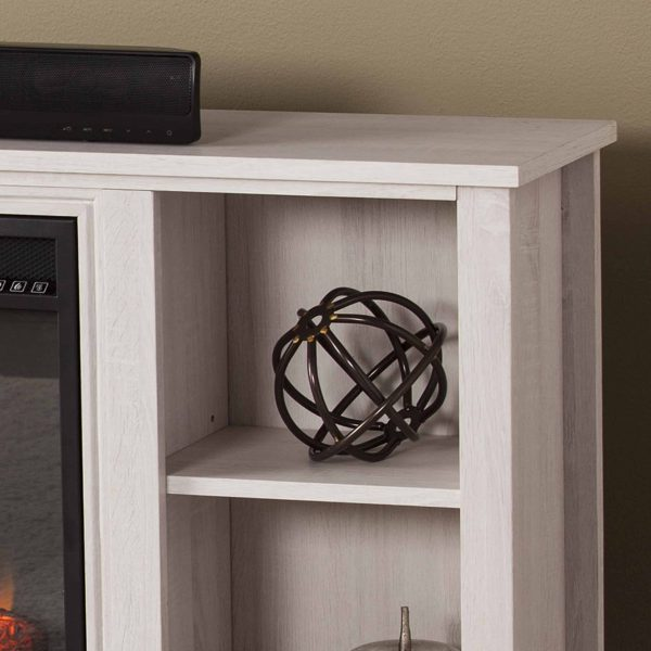 Cheksire Smart Fireplace w/ Storage – White 3