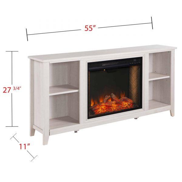 Cheksire Smart Fireplace w/ Storage – White 5