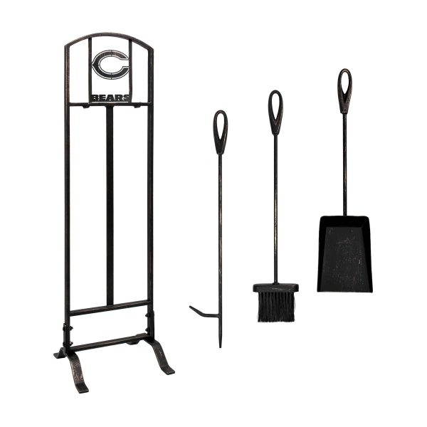 Chicago Bears Imperial Fireplace Tool Set - Brown 1