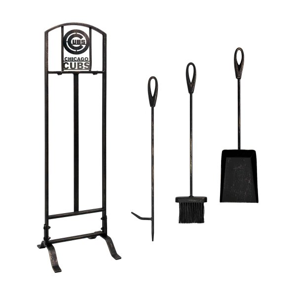 Chicago Cubs Imperial Fireplace Tool Set - Brown 1