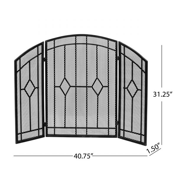 """Christopher Knight Home Gilmer Contemporary Three Panel Fireplace screen by - 31.25"""" H x 40.75"""" W x 1.50"""" D 2"""