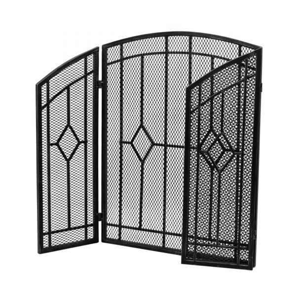 """Christopher Knight Home Gilmer Contemporary Three Panel Fireplace screen by - 31.25"""" H x 40.75"""" W x 1.50"""" D 3"""