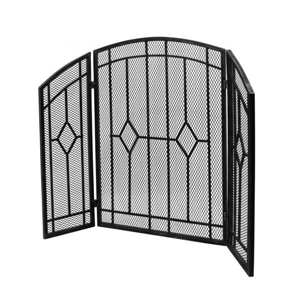 """Christopher Knight Home Gilmer Contemporary Three Panel Fireplace screen by - 31.25"""" H x 40.75"""" W x 1.50"""" D 4"""