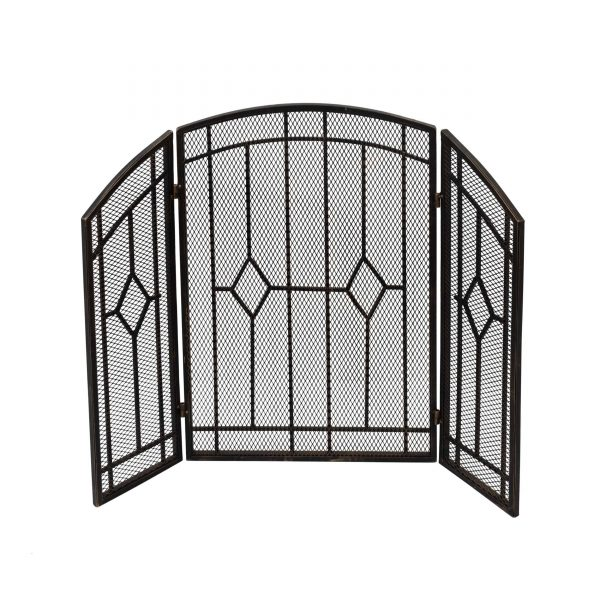 """Christopher Knight Home Gilmer Contemporary Three Panel Fireplace screen by - 31.25"""" H x 40.75"""" W x 1.50"""" D"""