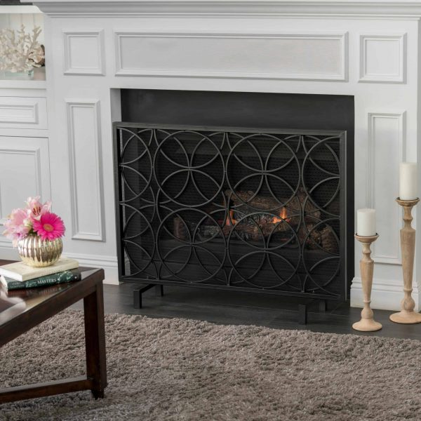 Christopher Knight Home Valeno Single Panel Iron Fireplace Screen by 1