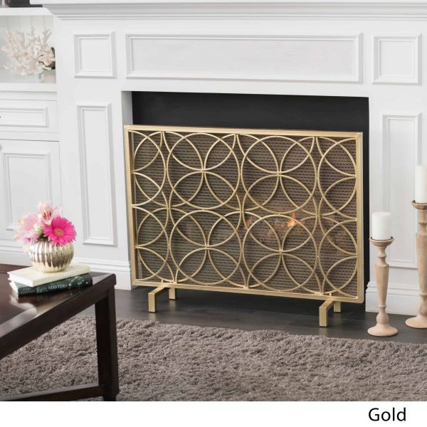 Christopher Knight Home Valeno Single Panel Iron Fireplace Screen by 2