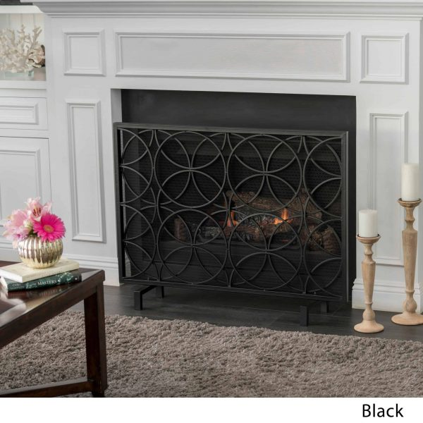 Christopher Knight Home Valeno Single Panel Iron Fireplace Screen by