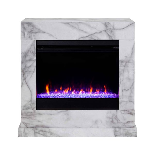 Claredale Faux Marble Color Changing Fireplace by Chateau Lyon 3