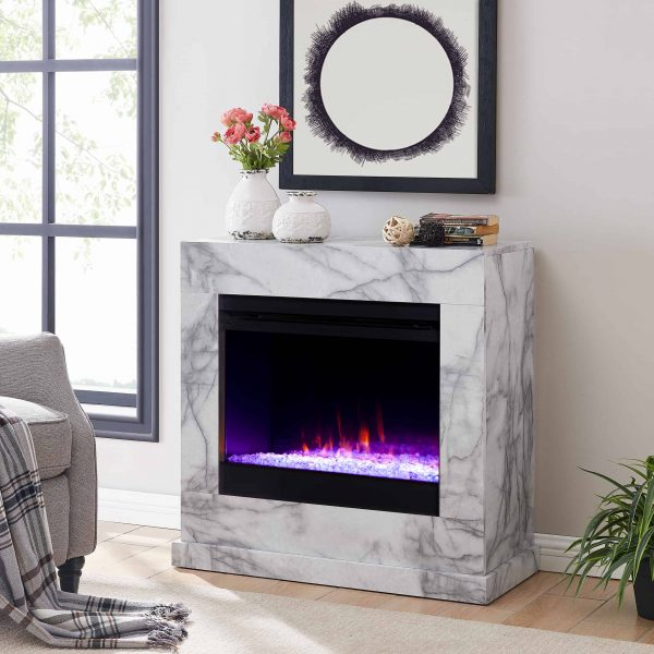 Claredale Faux Marble Color Changing Fireplace by Chateau Lyon 5
