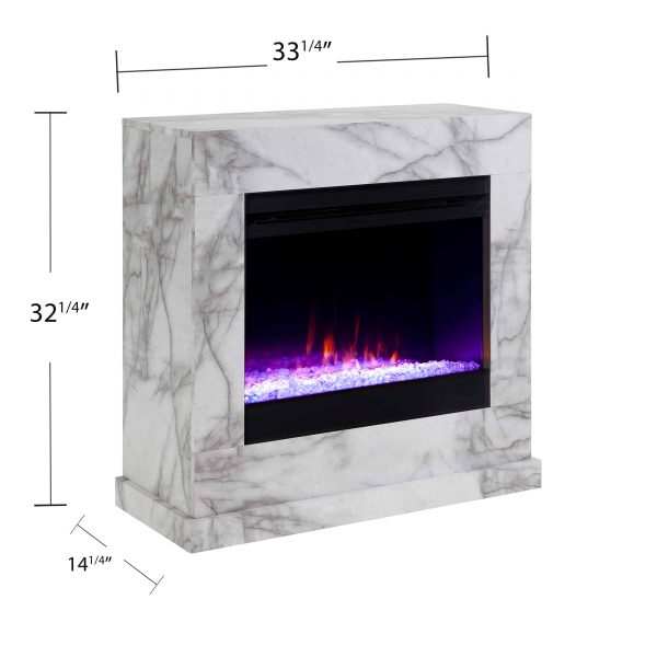 Claredale Faux Marble Color Changing Fireplace by Chateau Lyon 7