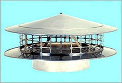 """Class A Round Rain Chimney Cap by American Chimney Supplies - 7"""" 1"""