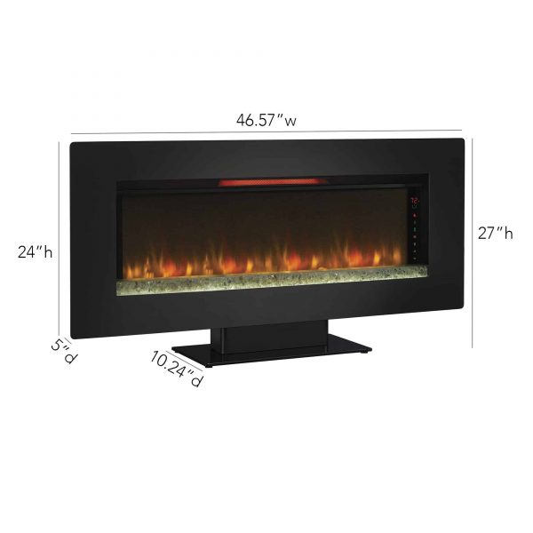Classic Flame Felicity Infrared Wall Hanging Electric Fireplace 5