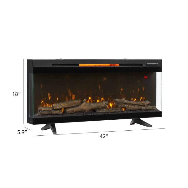 "ClassicFlame® PanoGlow™ 42"" Wall Mounted Electric Fireplace 2"