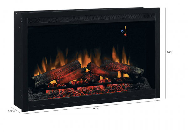 """ClassicFlame 36EB110-GRT 36"""" Traditional Built-in Electric Fireplace Insert, 120 volt 1"""