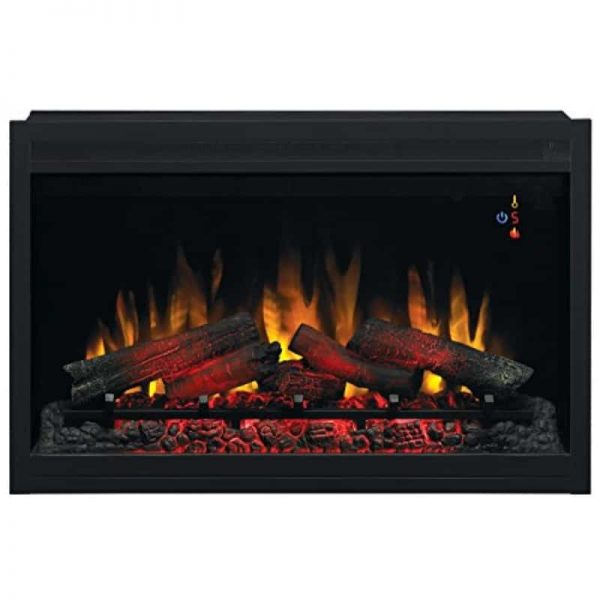 """ClassicFlame 36EB110-GRT 36"""" Traditional Built-in Electric Fireplace Insert"""