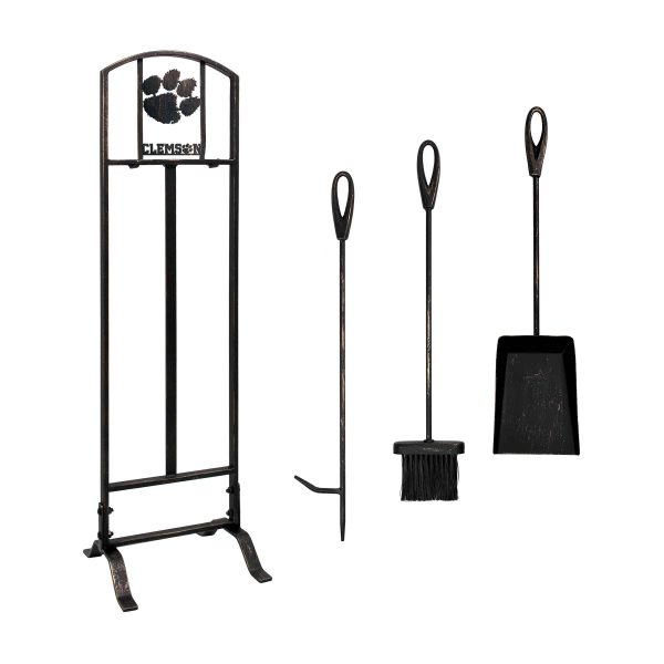 Clemson Tigers Imperial Fireplace Tool Set - Brown 1