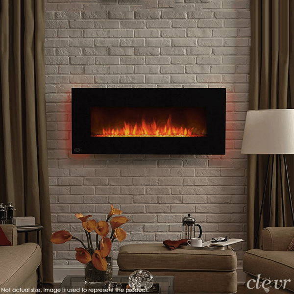 "Clevr 39"" Adjustable Electric Wall Mount Fireplace Heater"