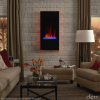 "Clevr Vertical Wall Mount 32"" Adjustable Electric Fireplace Heater"