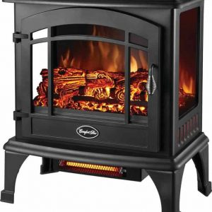Comfort Glow EQS5140 Compact Thermostatic Electric Stove With Infrared Quartz