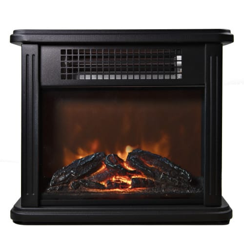 Comfort Zone CZFP20M 350/700 Watt 2 Heat Setting Infrared Desktop Fireplace Heater, Black 3