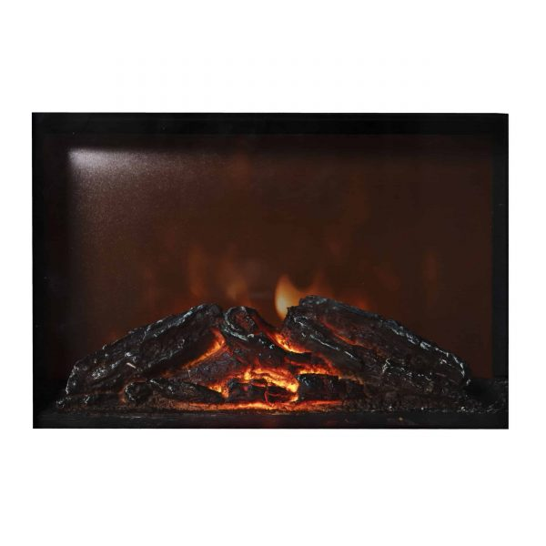 Comfort Zone CZFP20M 350/700 Watt 2 Heat Setting Infrared Desktop Fireplace Heater, Black 4