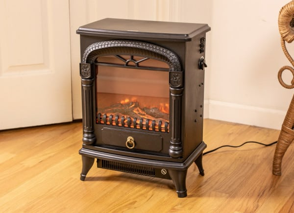 Comfort Zone CZFP4 Electric Fireplace Stove Heater, Black 2
