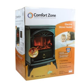 Comfort Zone CZFP4 Electric Fireplace Stove Heater, Black 4