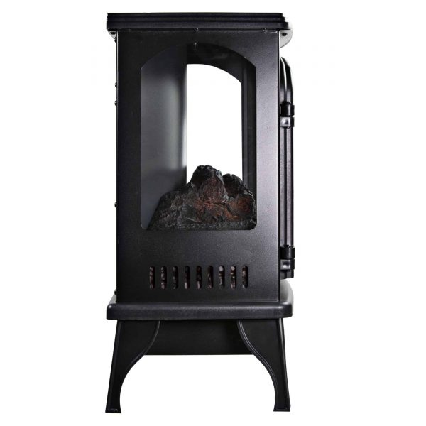 Comfort Zone CZFP6 2 Heat Setting 1500 Watt Stove Fireplace Heater, Black 3