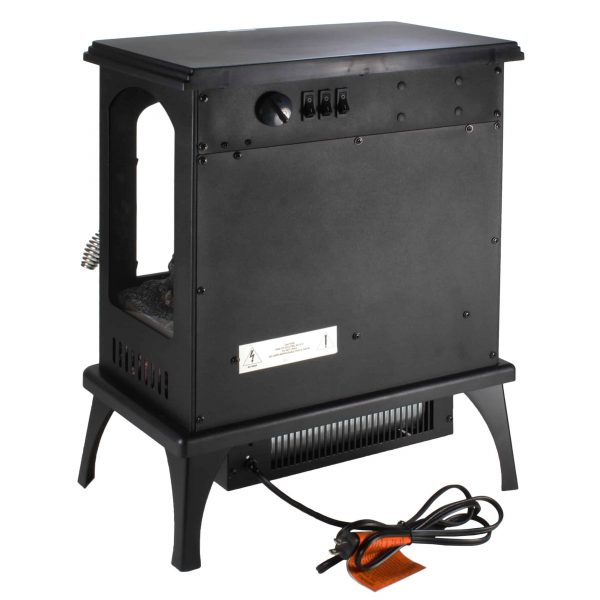 Comfort Zone CZFP6 2 Heat Setting 1500 Watt Stove Fireplace Heater, Black 4