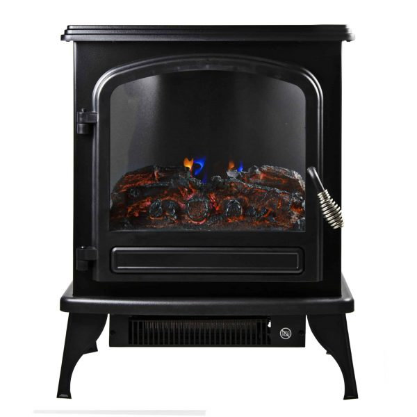 Comfort Zone CZFP6 2 Heat Setting 1500 Watt Stove Fireplace Heater
