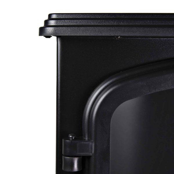 Comfort Zone CZFP6 2 Heat Setting 1500 Watt Stove Fireplace Heater, Black 6