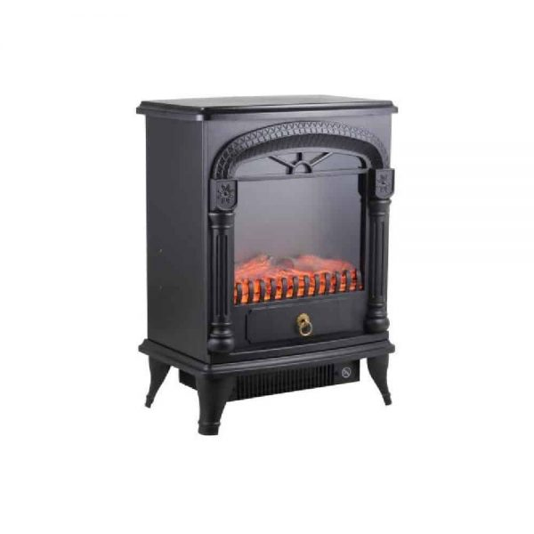 Comfort Zone Fireplace Stove Heater Electric Powerful 1500W 2 Heat Settings 3D Flame Portable Safety Features CZFP4 Black, 2-Pack 4