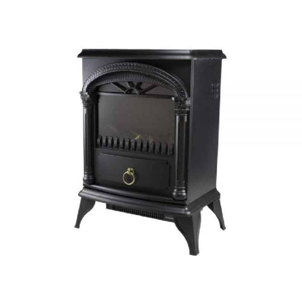 Comfort Zone Fireplace Stove Heater Electric Powerful 1500W 2 Heat Settings 3D Flame Portable Safety Features CZFP4 Black, 2-Pack 6