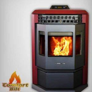 ComfortBilt HP22 Pellet Stove w/Remote Control - Burgundy