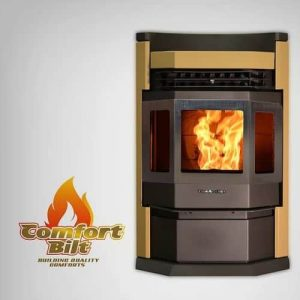 ComfortBilt HP22N-SS Pellet Stove with Remote and Trim - Apricot