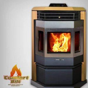 ComfortBilt HP22SS Pellet Stove w/Remote and Trim - Apricot
