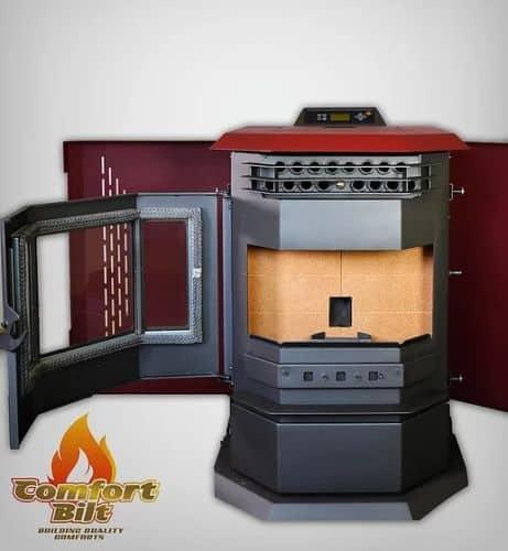 ComfortBilt HP22SS Pellet Stove w/Remote and Trim - Burgundy 1