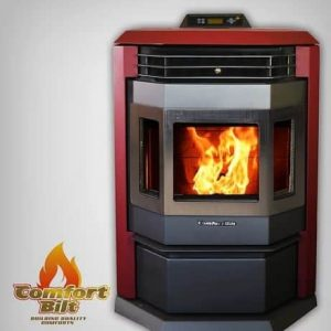 ComfortBilt HP22SS Pellet Stove w/Remote and Trim - Burgundy