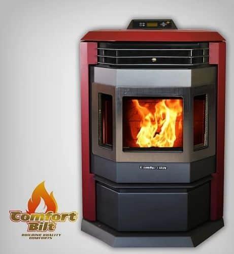 ComfortBilt HP22SS Pellet Stove w/Remote and Trim - Burgundy