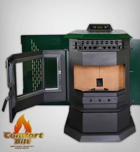 ComfortBilt HP22SS Pellet Stove w/Remote and Trim - Green 1