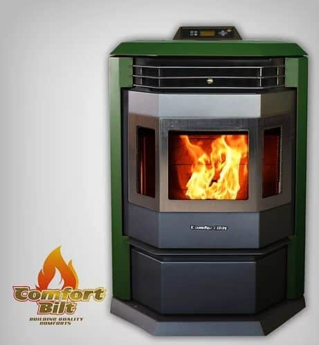 ComfortBilt HP22SS Pellet Stove w/Remote and Trim - Green