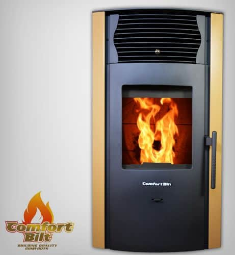 ComfortBilt HP50S Pellet Stove w/Remote and Thermostat in Apricot