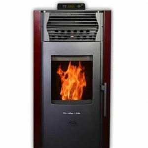 ComfortBilt HP50S Pellet Stove w/Remote and Thermostat in Burgundy