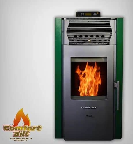 ComfortBilt HP50S Pellet Stove w/Remote and Thermostat in Green